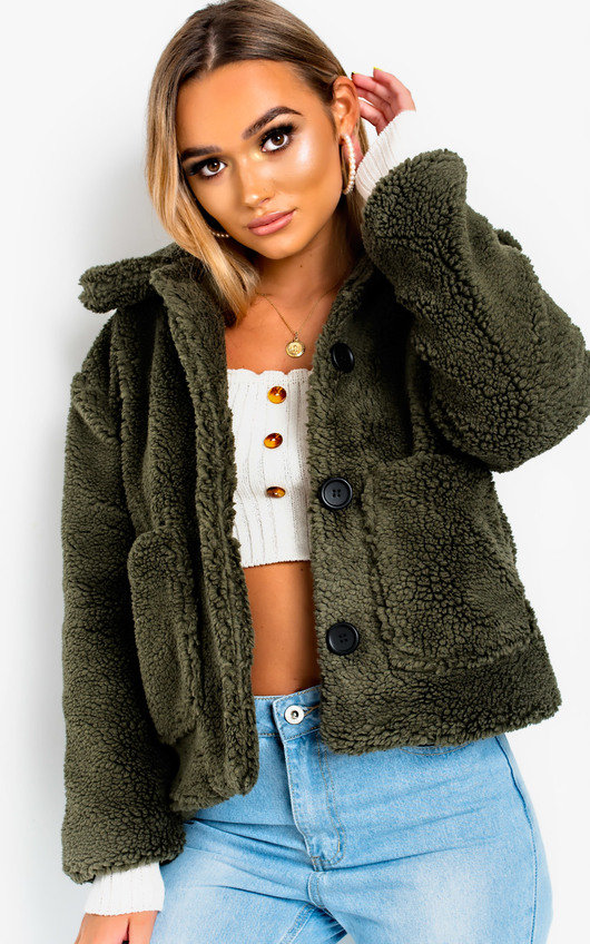 Gina Teddy Bear Button Up Jacket