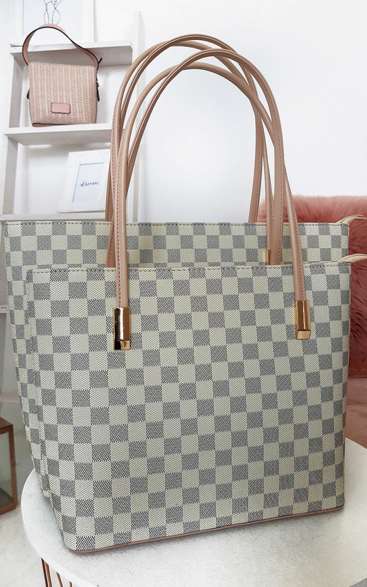 Grace Checked Two in One Handbag