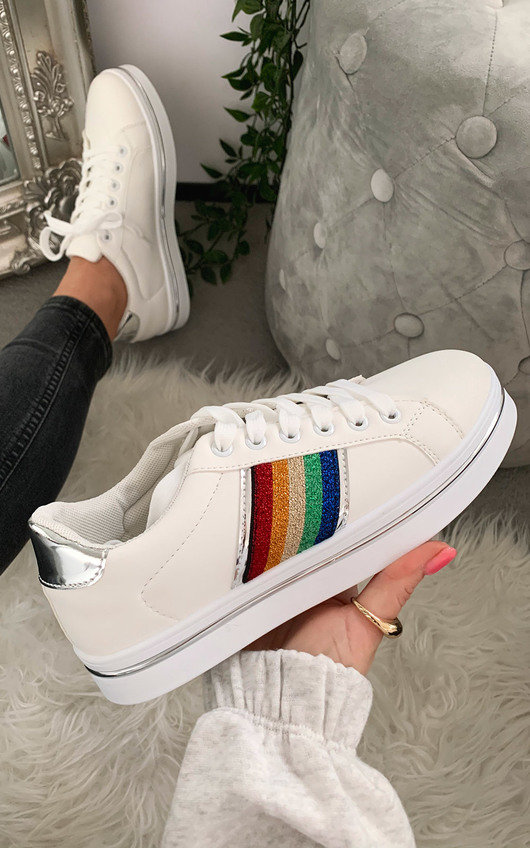 Grace Rainbow Stripe Trainers