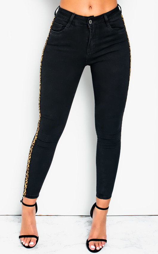 Hails Striped Mid Rise Skinny Jeans