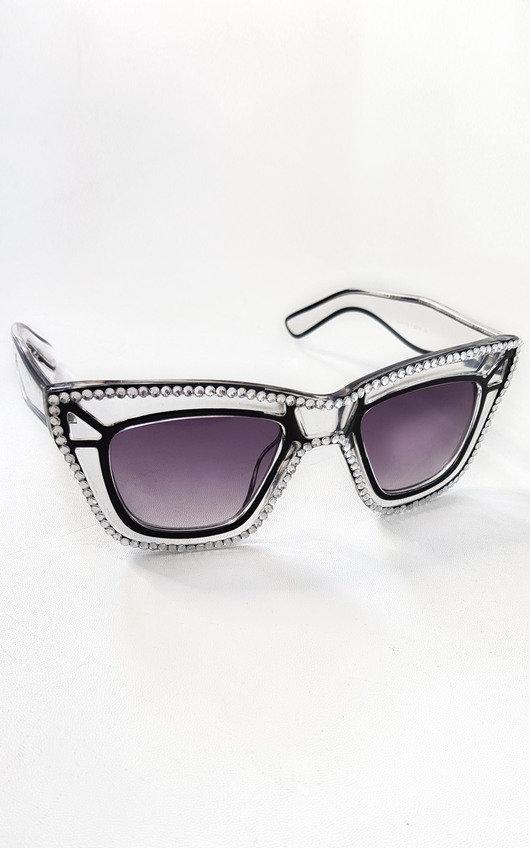 Halley Cut Out Diamante Sunglasses