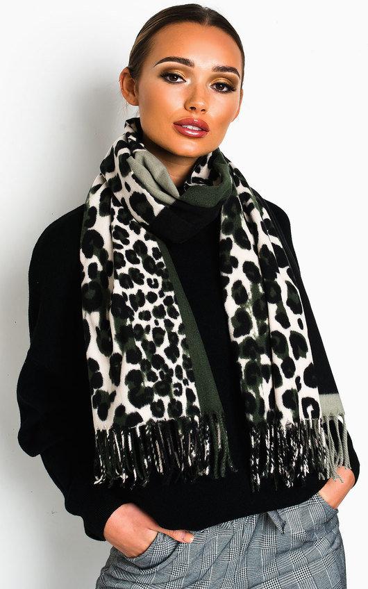Hallie Leopard Print Shawl