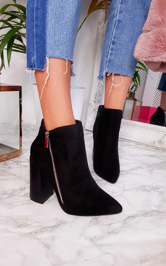 Hannah Faux Suede Pointed Boots