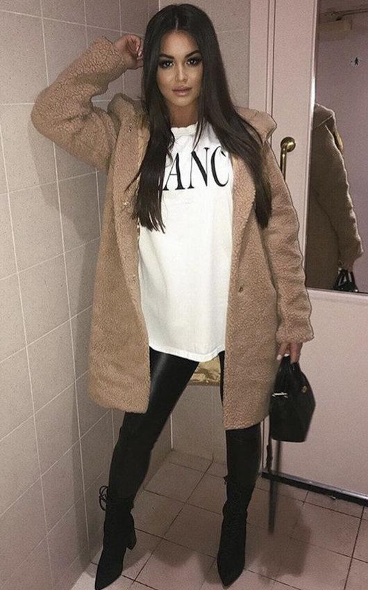 Hanni Hooded Teddy Bear Jacket