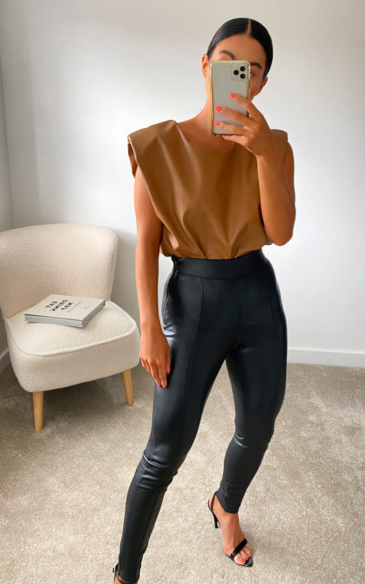 Harley Faux Leather Sleeveless Top
