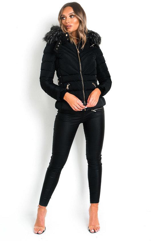 Harley Padded Faux Fur Hood Puffer Jacket