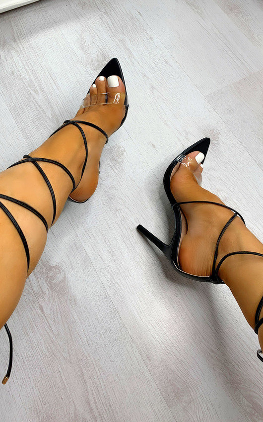 Harlow Lace Up High Heels