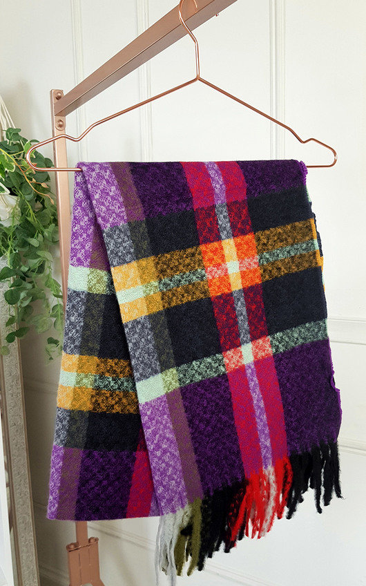 Harper Check Print Knitted Scarf