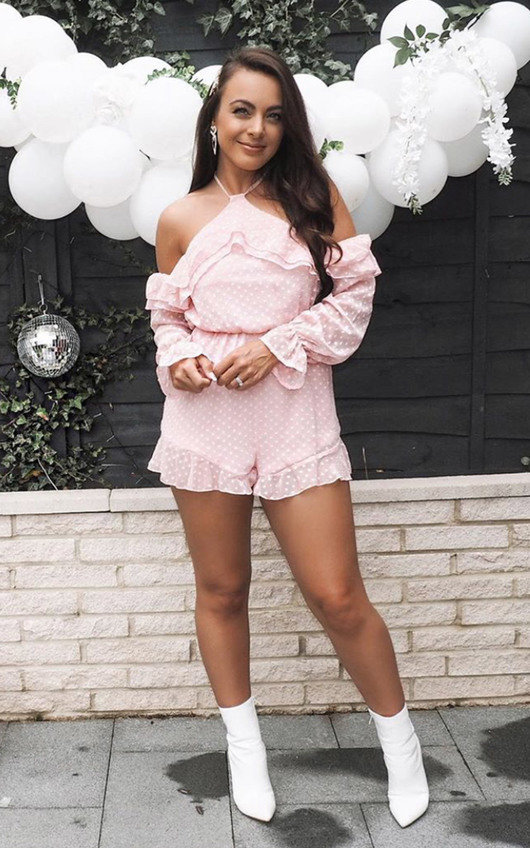 Harper Off Shoulder Frill Playsuit