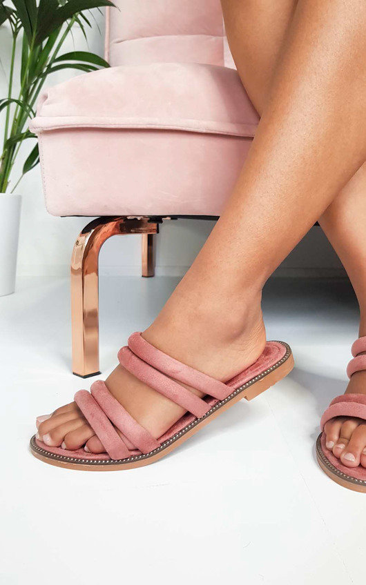 Harper Strappy Faux Suede Sandals