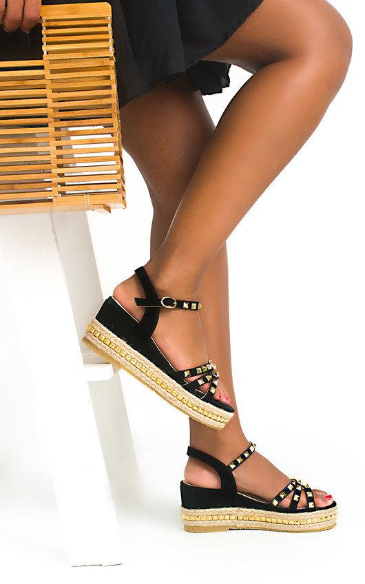 Harri Studded Wedged Sandals