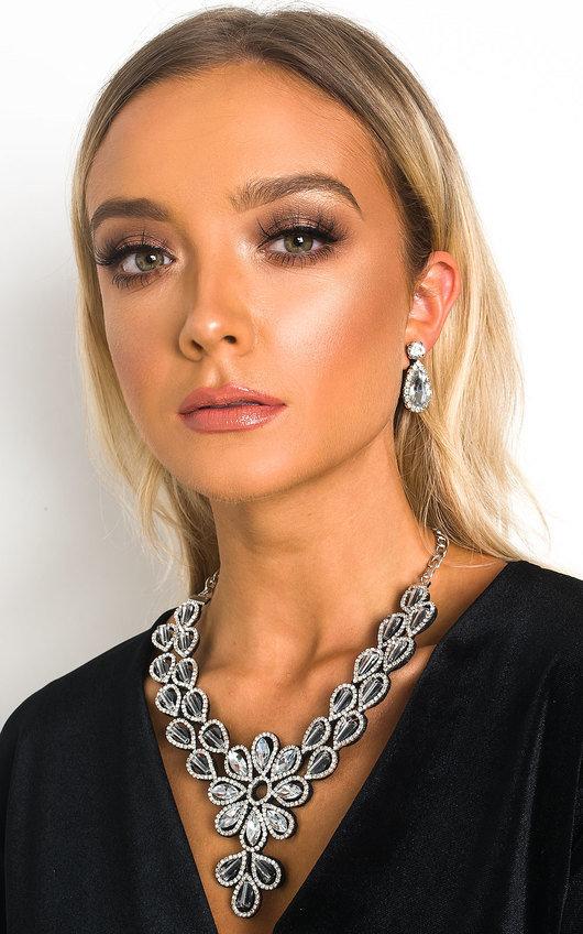 Harriet Crystal & Bead Necklace Set