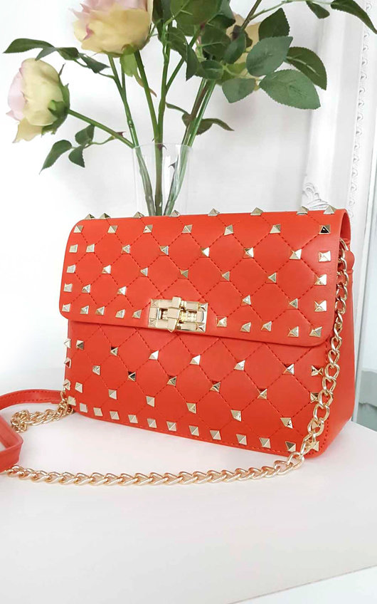 Harriet Studded Quilted Crossover Bag