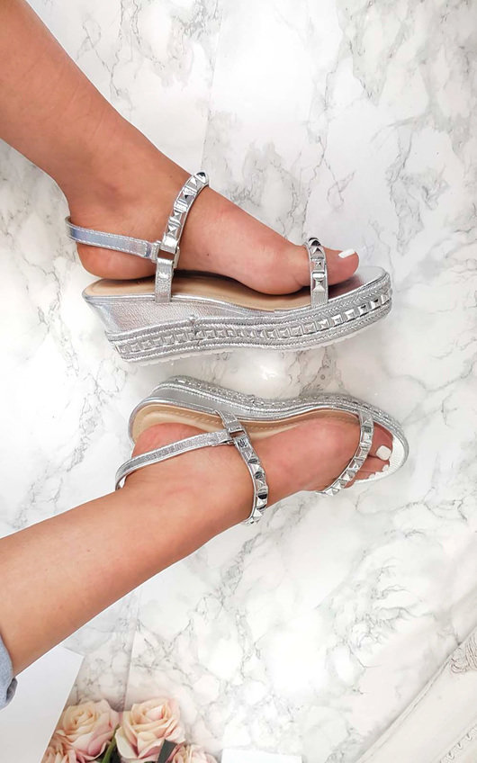 Harri  Studded Strap Wedges