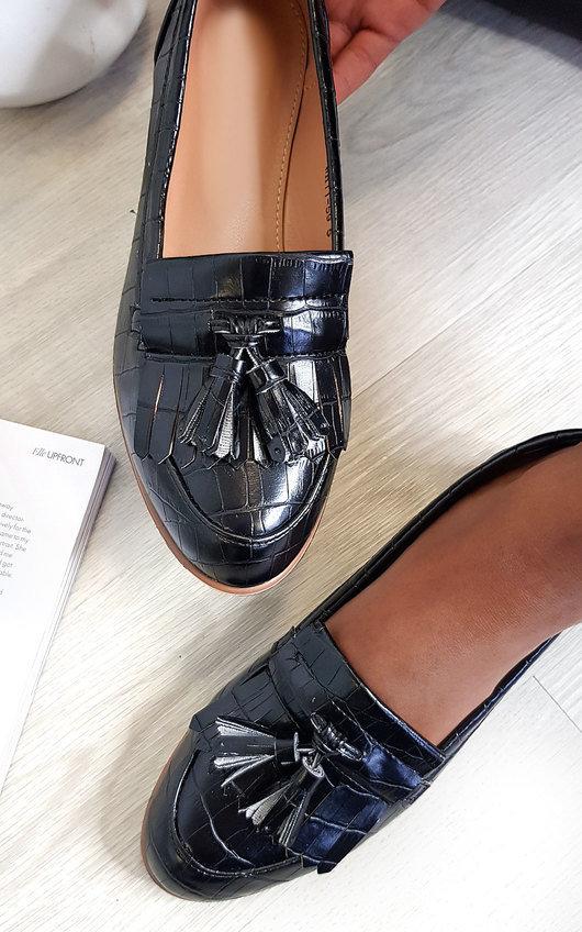 Harris Faux Leather Tassel Loafer Flats