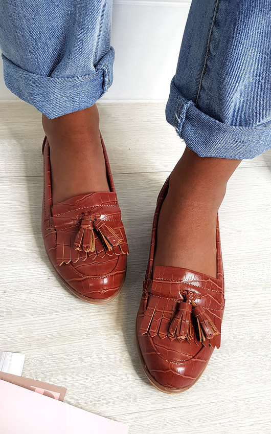 Harris Faux Leather Tassel Loafer Flats