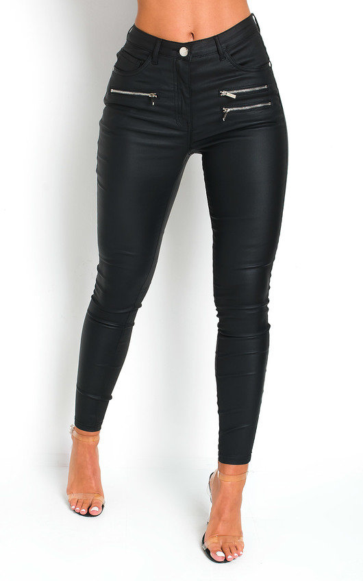 Harris Skinny Mid Rise Coated Jeans
