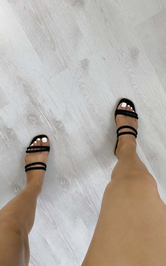 Hayley Strappy Faux Suede Sandals