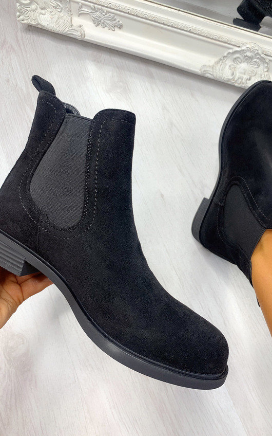 Heath Faux Suede Ankle Boots