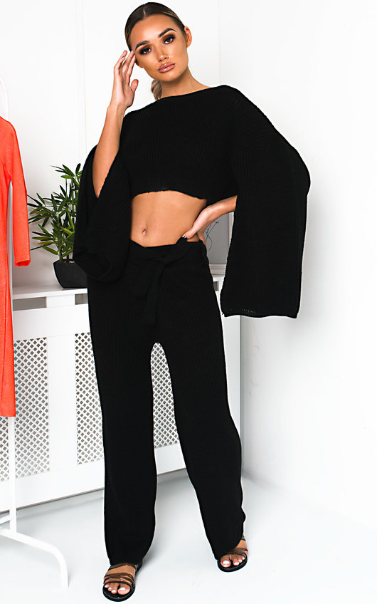 Heath Knitted Slit Sleeve Co-ord