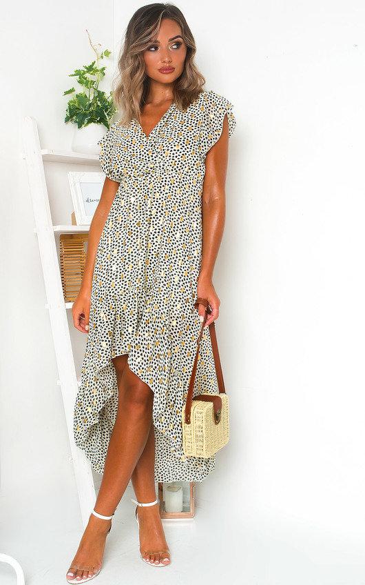 Heath Polka Dot Maxi Dress