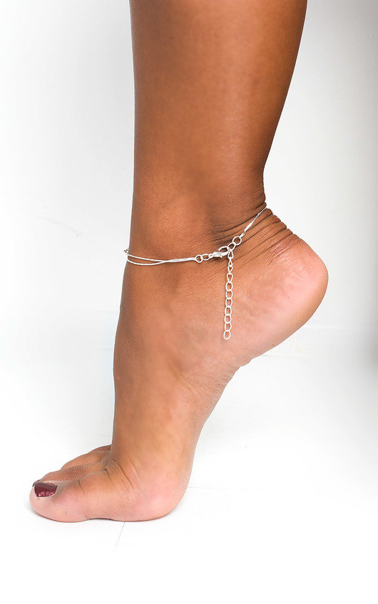 Heather Heart Charm Anklet