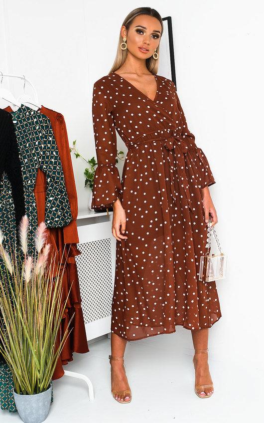 Heather Wrap Midi Dress