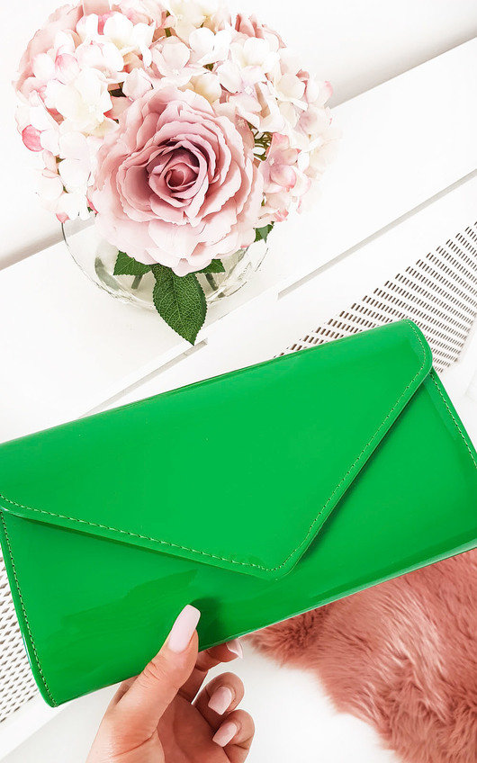 Heidi Patent Envelope Clutch Bag