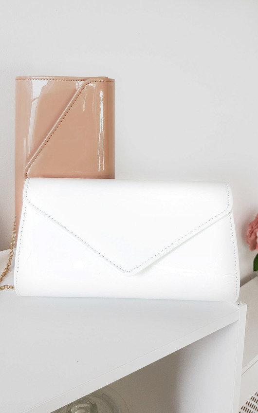Heidi Patent Envelope Clutch Bag