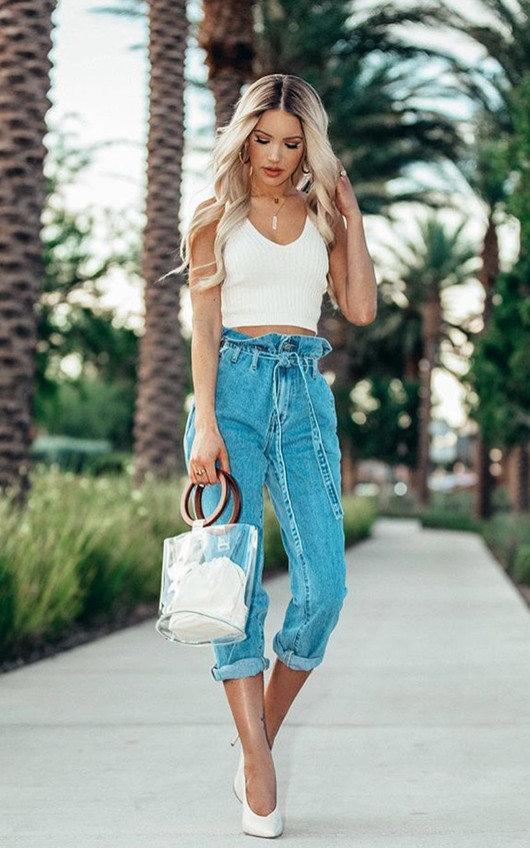 Heidi Tie Waist Mom Jeans