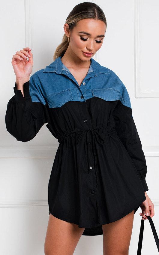 Helen Denim Shirt Dress