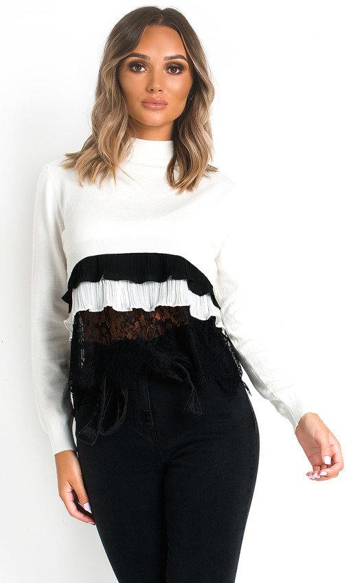 Henrietta Frill Shirt Hem Jumper
