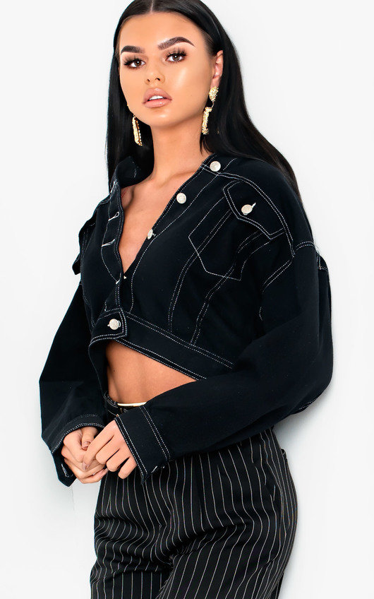Hesta Contrast Stitch Denim Jacket