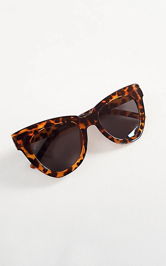 Hollie Tortoiseshell Oversized Sunglasses
