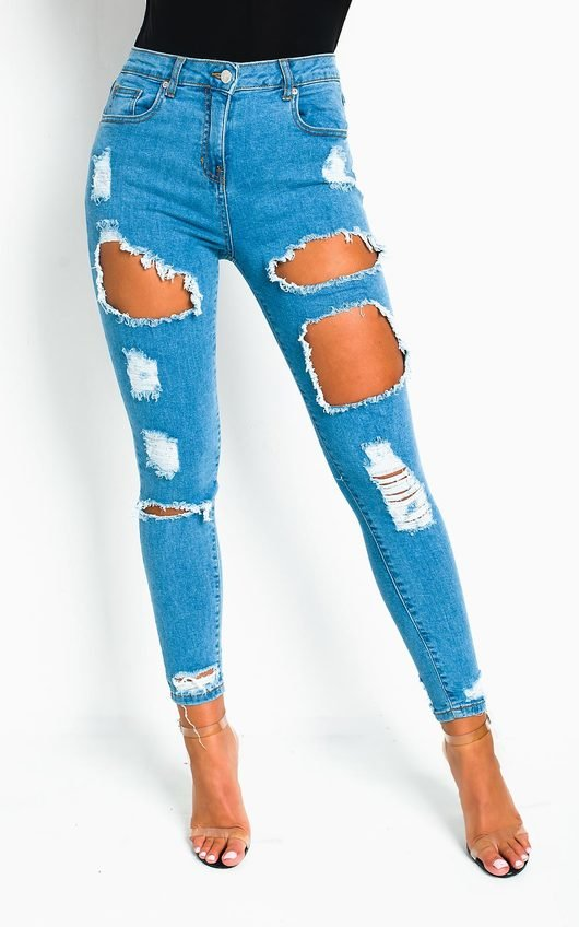 Hope Distressed Straight Leg Jeans
