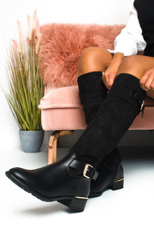 Iggy Buckle Knee High Boots