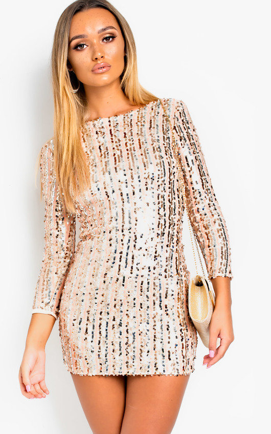 Iggy Sequin Embellished Mini Dress
