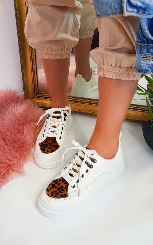 Immy Faux Leather Trainers