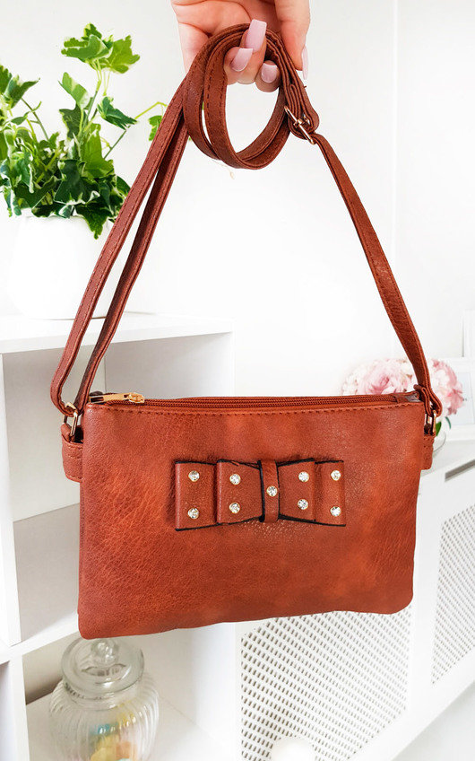 Imogen Bow Detail Cross Body Handbag