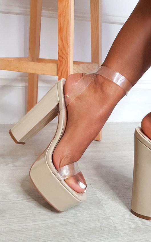 Imogen Perspex Chunky Platform Heels