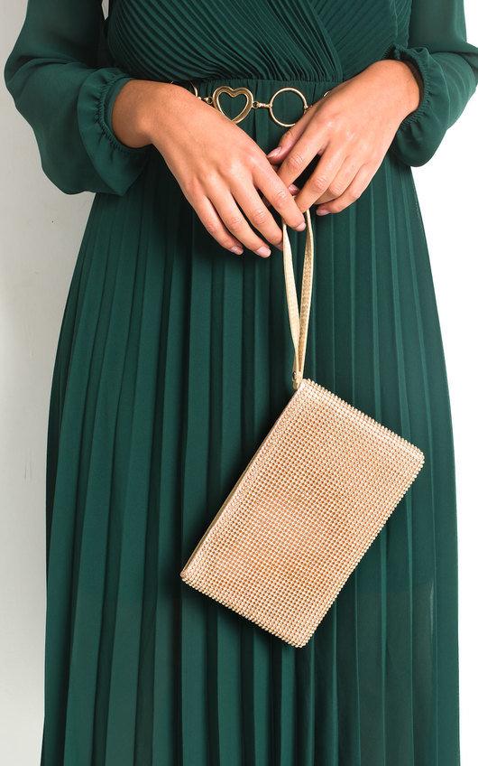 Ingrid Diamante Chainmail Clutch Bag