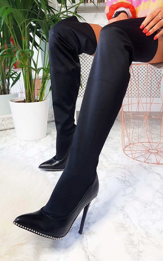 Iona Studded Thigh High Boots