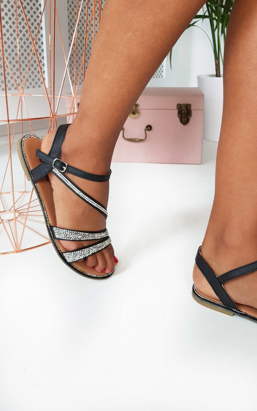 Iris Diamante Embellished Strappy Sandals
