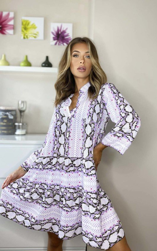 Isabella Printed Layered Shift Dress
