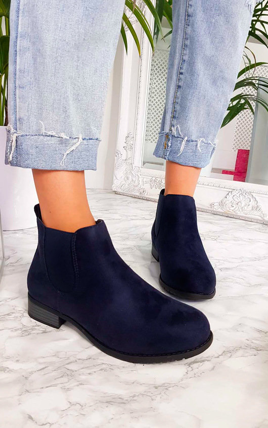 Ivy Faux Suede Ankle Boots