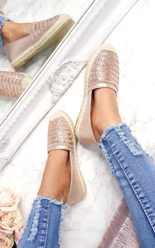 Izabel Diamante Embellised Espadrilles