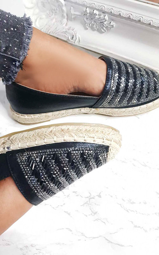 Izabel Diamante Embellished Espadrilles