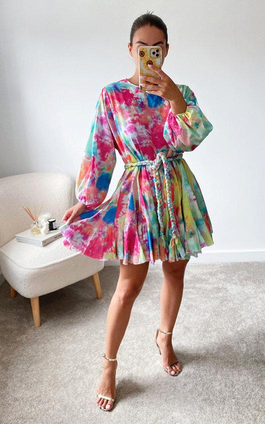 Izzie Tie Waist Ruffle Design Dress