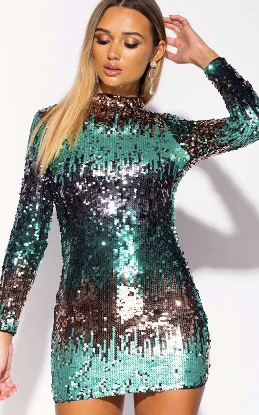Izzy Sequin Embellished Mini Dress