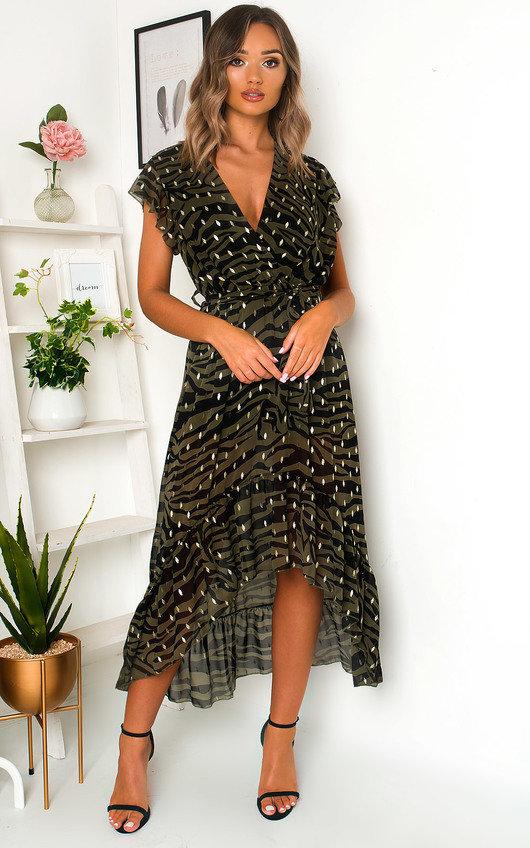 Izzy Zebra Print Maxi Dress